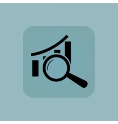 Pale blue graphic examination icon vector