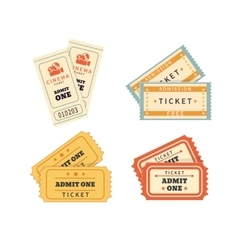 Retro double tickets set vector