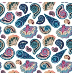 Seamless pattern with shells summer vector