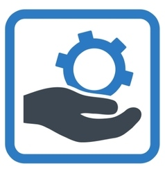 Engineering service flat icon vector