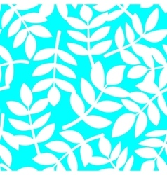 White plant leaves seamless pattern vector