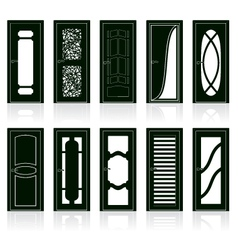 Interior door silhouettes vector image