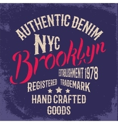 Brooklyn city print design vector