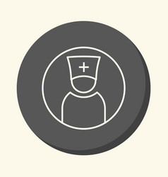 Avatar silhouette of a doctor or priest in a hat vector