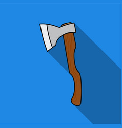 axe icon in flat style isolated on white vector image
