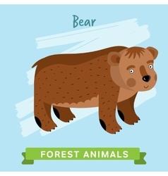 Bear forest animals vector
