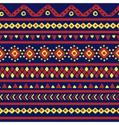 blue mexican pattern vector image