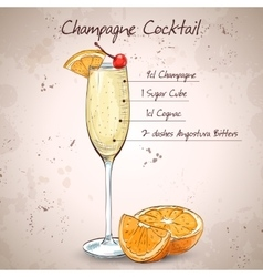 Champagne cocktail vector