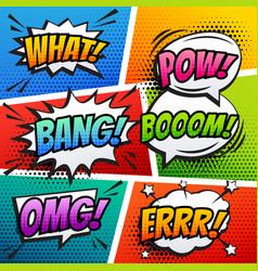 Comic sound effect speech bubble pop art in vector