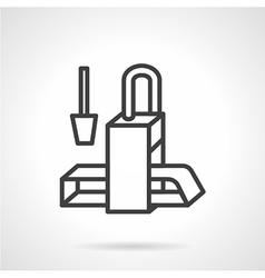 Conveyor black line icon vector