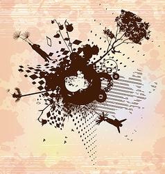 Dandelion flight concept background vector