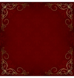 dark red card with pattern vector image vector image