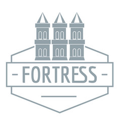 fortress logo simple gray style vector image