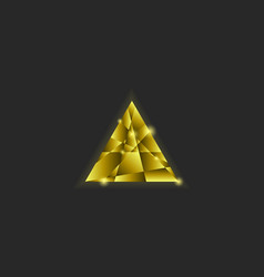 golden triangle logo shiny multilayer vector image vector image