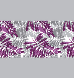 Gray and violet tropical seamless pattern vector