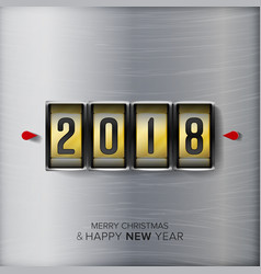 happy new year 2018 abstract holiday vector image vector image