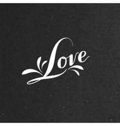 Love retro label vector