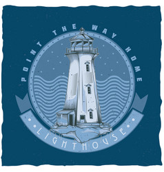 Nautical t-shirt label design vector