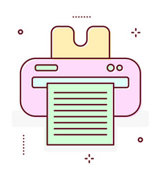 Printer line icon vector