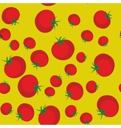 Red tomato seamless texture 560 vector image vector image
