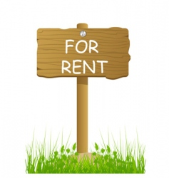 rent sign vector image vector image