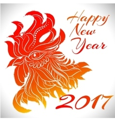 Rooster zodiac symbol of 2017 year vector