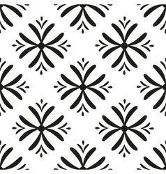 seamless flower pattern Geometric seamless vector image