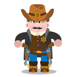 Sheriff a man in a suit of law enforcement bodies vector