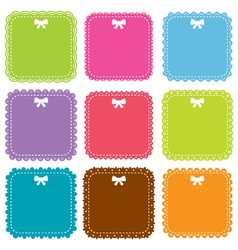Square frames set vector image