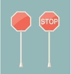 Stop sign retro vector