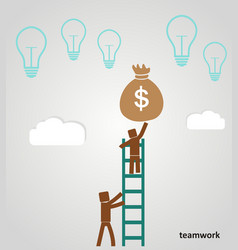 teamwork - businessman profits vector image vector image