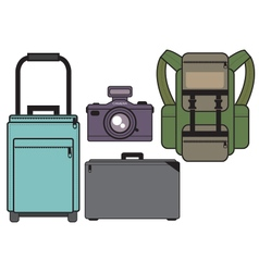 Travel jaunt camera vector