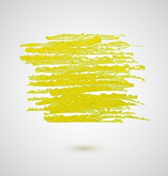 yellow chalk strokes banner vector image vector image