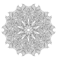Mandala coloring book page for adults and kids vector