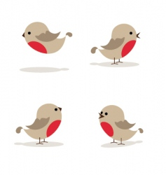 robins vector image