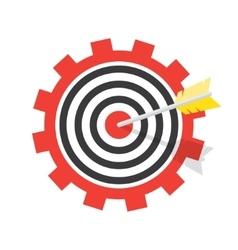 a target with an arrow vector image