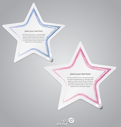 Colorful label stars vector