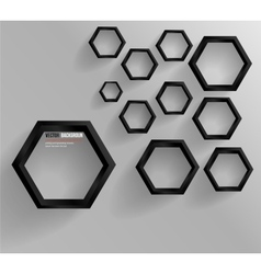 Abstract background hexagon web and design vector