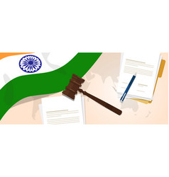 India law constitution legal judgment justice vector