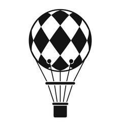 checkered air balloon icon simple style vector image