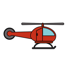 Red helicopter transport fly image vector