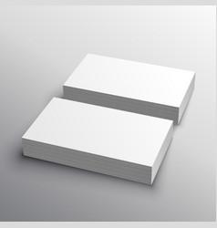 Business card mockup presentation for display vector