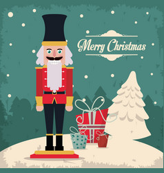 nutcracker merry christmas design vector image