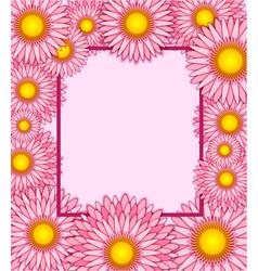 floral frame greeting card vector image