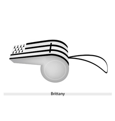 Black and white stripe on brittany whistle vector