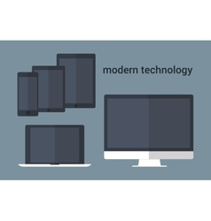 Group of computer devices vector