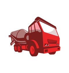 Cement truck lorry retro style vector