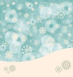 Abstract winter background with snowflakes and vector
