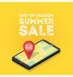 3d mobile digital marketing concept vector image vector image