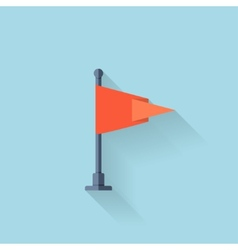 Flat web icon Flag vector image